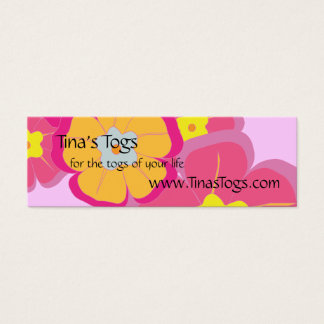 Aloha Floral Theme Care Instructions Mini Business Card