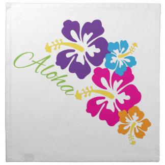 Aloha Flowers Napkin