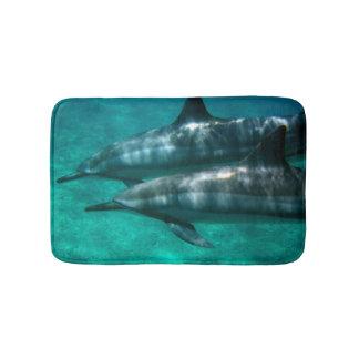 Aloha from Hawaii Dolphins Bath Mat