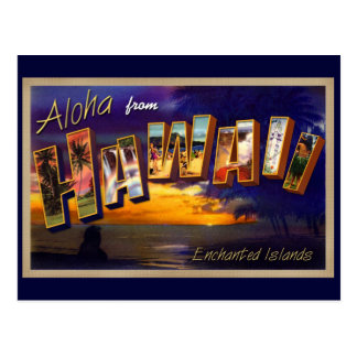 Aloha from Hawaii Postcard