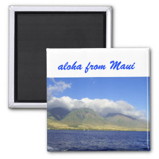 Aloha from Maui Square Magnet