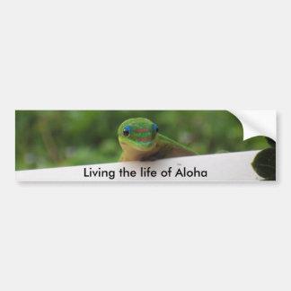 Aloha Gecko stickers Bumper Sticker