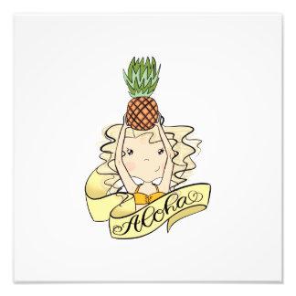 Aloha Girl With Pineapple Photo Print