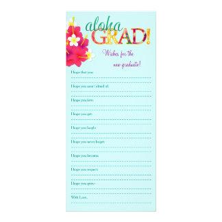 Aloha Grad Hawaiian Luau - Wishes Memory Note Full Color Rack Card