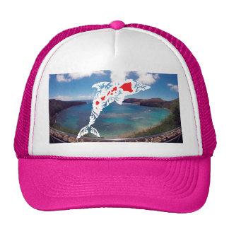 Aloha Hanauma Bay Hawaii Dolphin Cap