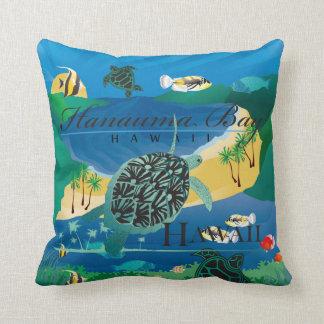 Aloha Hanauma Bay Hawaii Honu Cushion