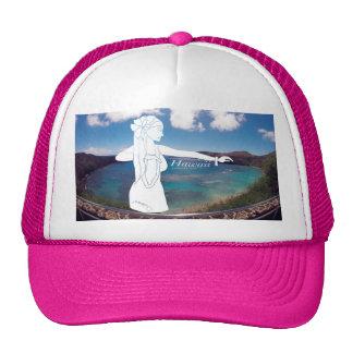 Aloha Hanauma Bay Hawaii Hula Dancer Cap