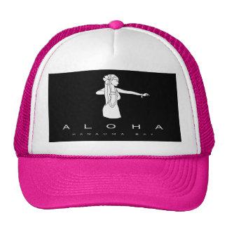 Aloha Hanauma Bay Hawaii Hula Dancer Mesh Hat