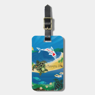 Aloha Hanauma Bay Hawaii Luggage Tag