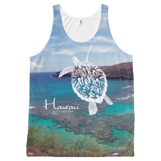 Aloha Hanauma Bay Hawaii Turtle Islands All-Over Print Singlet