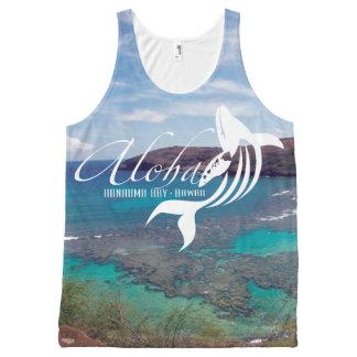 Aloha Hanauma Bay Hawaii Whale All-Over Print Singlet