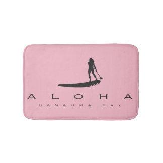 Aloha Hanauma Bay Hawaii Windsurfing in Hawaii Bath Mat