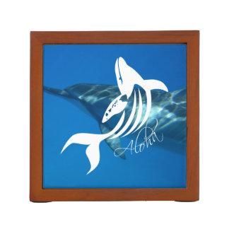 Aloha Hawaii Dolphin and Whale Desk Organiser