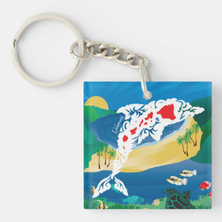 Aloha Hawaii Dolphins Key Ring
