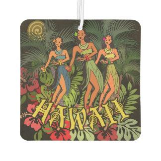 Aloha Hawaii Hula Dance Art Print Car Air Freshener