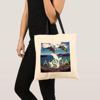 Aloha Hawaii Islands Dolphins Tote Bag