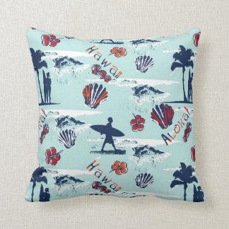 Aloha Hawaii Palm Trees Surf Hawaii Pattern Cushion