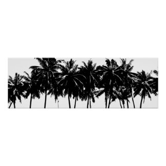 Aloha Hawaii Palm Trees Tropics Travel Poster