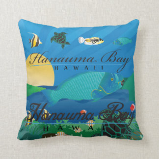 Aloha Hawaii Parrot Fish Cushion