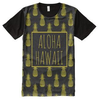 Aloha Hawaii Pineapples All-Over Print T-Shirt