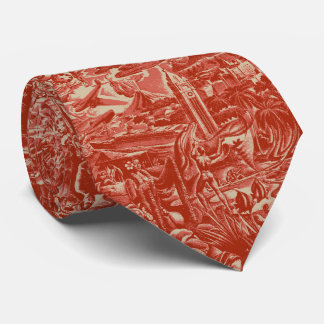 Aloha Hawaii Scenic Two-sidedPrinted Tie