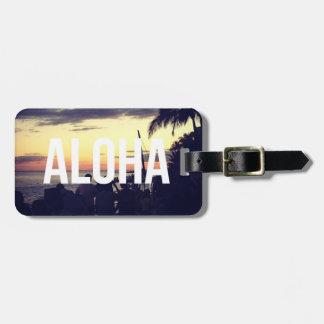 Aloha Hawaii Sunset Luggage Tag