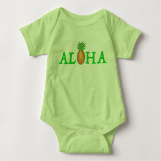 ALOHA Hawaii Tropical Island Hawaiian Pineapple Baby Bodysuit