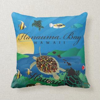 Aloha Hawaii Turtle and Flowers Cushion