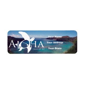 Aloha Hawaii Turtle and Hanauma Bay Return Address Label