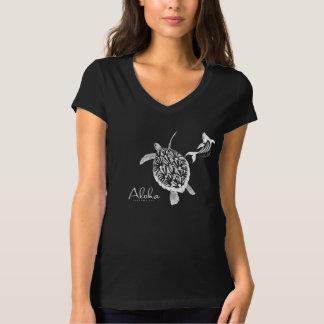 Aloha Hawaii Turtle and Whale T-Shirt