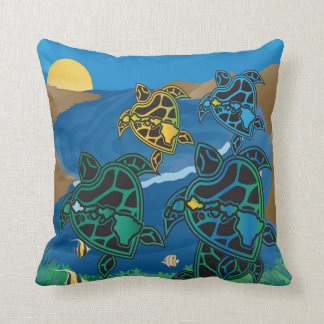 Aloha Hawaii Turtle islands Cushion