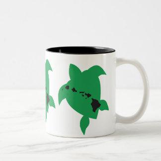 Aloha Hawaii Turtle Two-Tone Coffee Mug