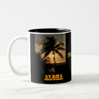 Aloha Hawaii Two-Tone Coffee Mug