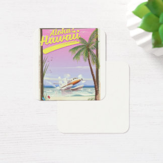Aloha! Hawaii Vintage style travel poster Square Business Card