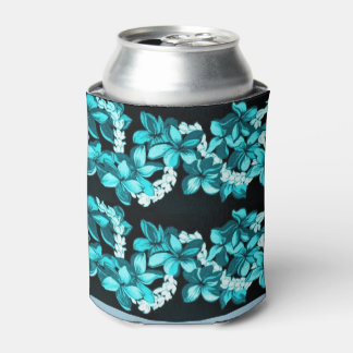Aloha Hawaiian floral lei bottle wrap Can Cooler