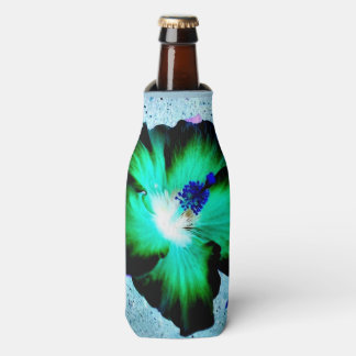Aloha Hawaiian Hibiscus bottle wrap Bottle Cooler