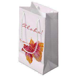 Aloha   Hawaiian Hibiscus Flower   Small Gift Bag