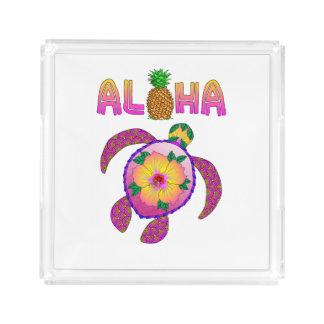 Aloha Hawaiian Honu Turtle Acrylic Tray