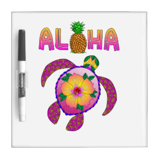 Aloha Hawaiian Honu Turtle Dry Erase Board