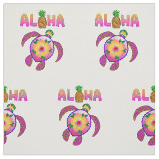 Aloha Hawaiian Honu Turtle Fabric