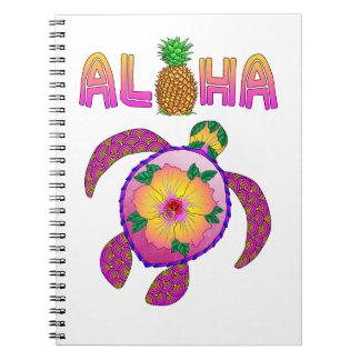 Aloha Hawaiian Honu Turtle Notebook