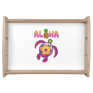 Aloha Hawaiian Honu Turtle Serving Tray