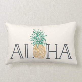 Aloha Hawaiian Pineapple Lumbar Cushion