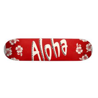 Aloha Hawaiian Red Skateboard Decks