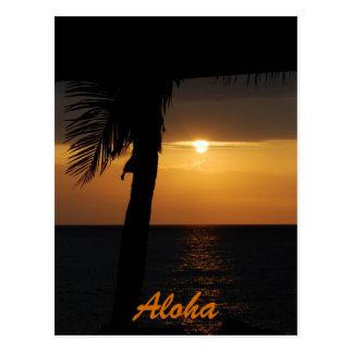 Aloha Hawaiian Sunset Cards Postcards