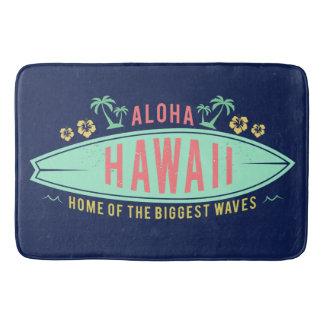Aloha Hawaiian Surfer bath mat