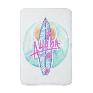 Aloha Hawaiian Surfer bath mats