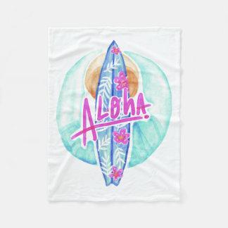 Aloha Hawaiian Surfer fleece blankets