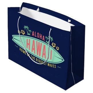 Aloha Hawaiian Surfer large gift bag