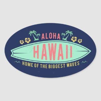 Aloha Hawaiian Surfer stickers